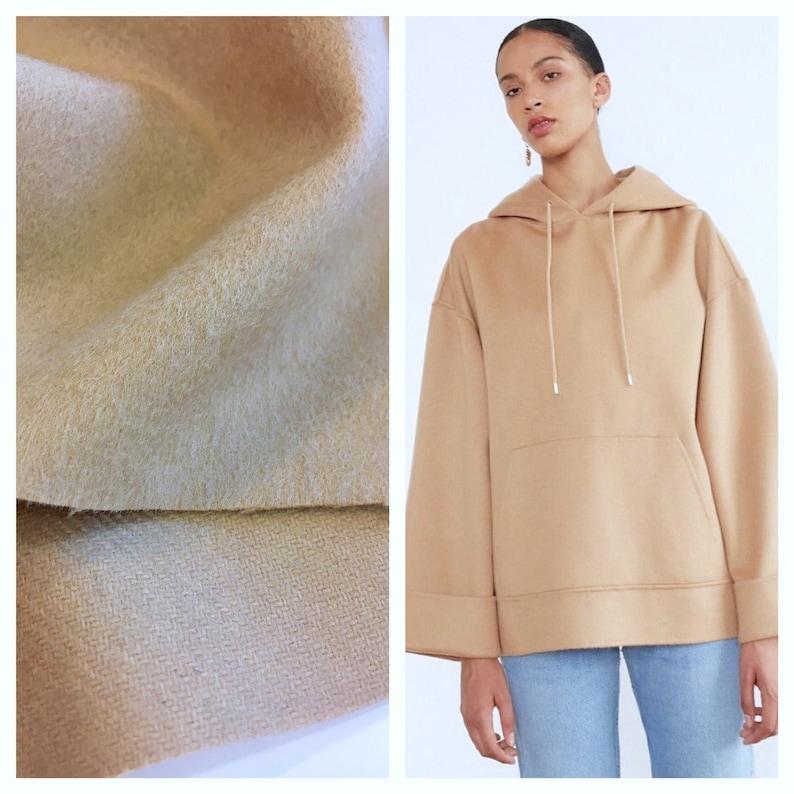 70/% Wool Melton Fabric Camel 150cm