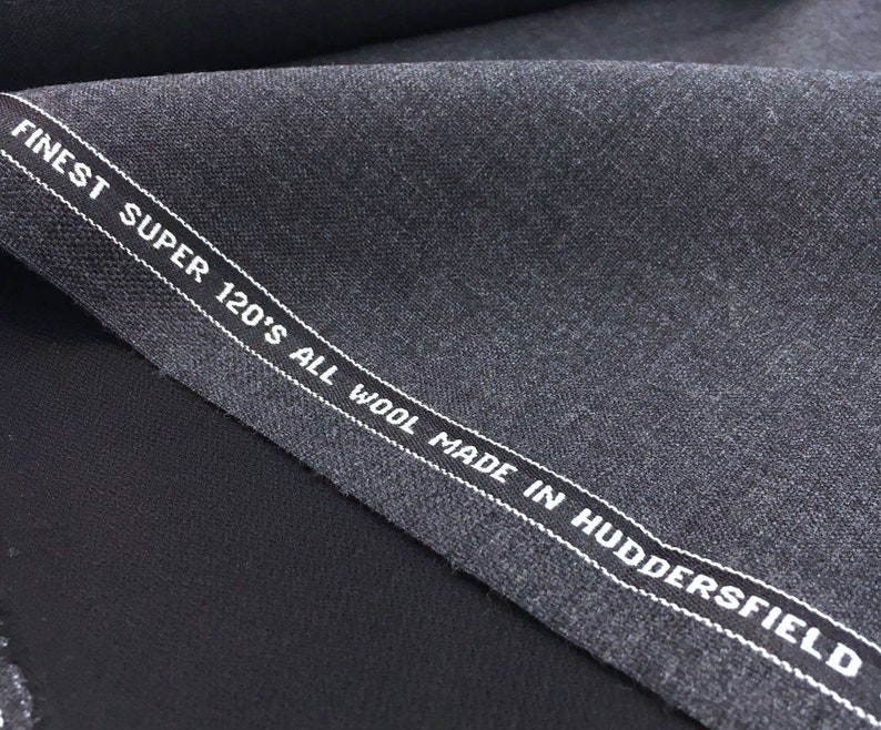 ca11b9e5865 Fine wool suit fabric charcoal grey super 120 dress making
