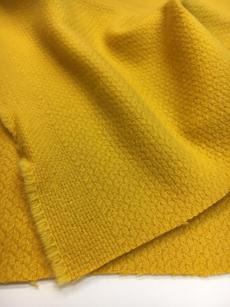 Yellow Boucle Wool Fabric by Ungaro textured tweed for coat by 12 yard suit
