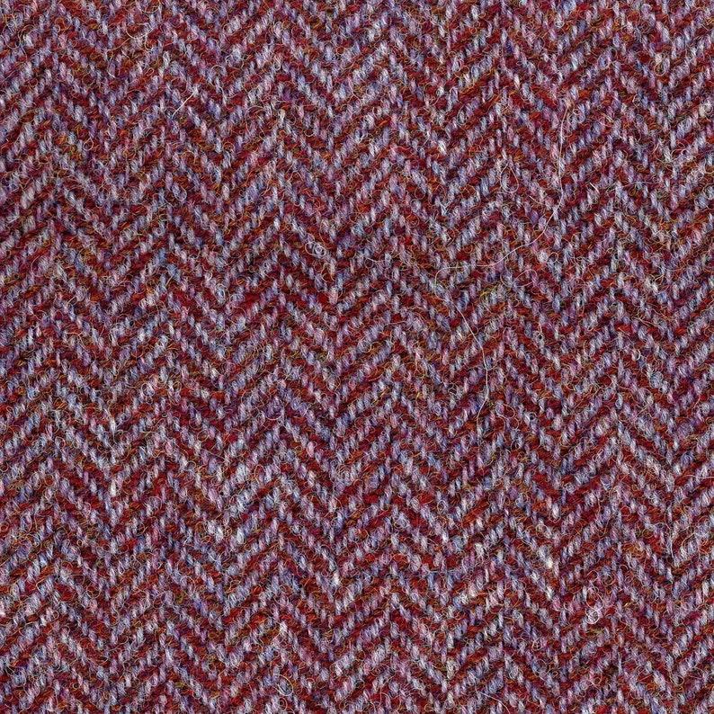 100% tessuto in lana Tweed spinato Borgogna viola  d2fe486f7f8