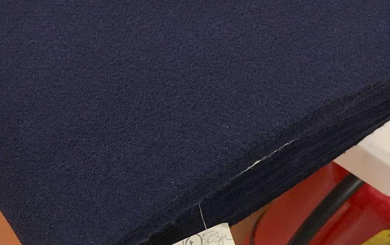 d13884ab4ec Navy Blue Wool Double Crepe Fabric made in Italy stretch