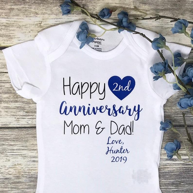 Anniversary Gifts Custom Baby Onesie First Anniversary Gift image 0