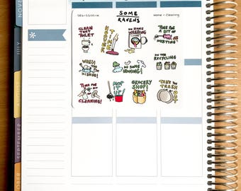 Cleaning household chores planner stickers