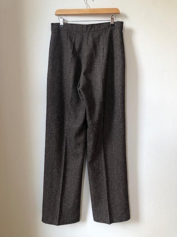 Vintage Two Piece Suit, Two Piece Set, Brown Bouc… - image 10