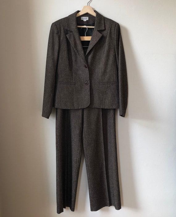 Vintage Two Piece Suit, Two Piece Set, Brown Bouc… - image 2