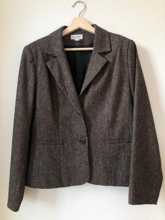 Vintage Two Piece Suit, Two Piece Set, Brown Bouc… - image 8