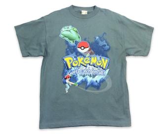5a002704 90s POKEMON NINTENDO Vintage T-Shirt ~ S // Video Game, NES, Pikachu, Japan,  Cartoon, Super Mario, Japanimation, 1990s, Anime, Tee, Small