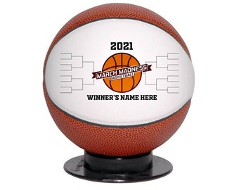 Basketball Award March Madness Office Pool Free Custom Engraving Ships 2 Day Priority Mail