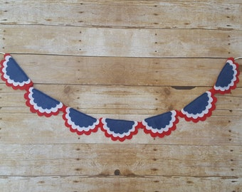 4th of July Banner, Memorial Day Banner, Patriotic Banner, Fourth of July Banner, 4th of July felt Banner