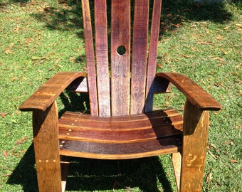 Tropical Adirondack Chair Handcrafted Hand Painted Parrot