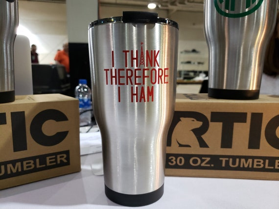 I Think Therefore I Ham Amateur Radio Ham Radio Rtic Tumbler Etsy The distinctive stainless steal bottom cap creates a clean, stylish look. etsy
