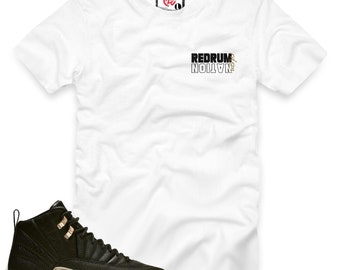 d020b9a0e Black White Metallic Gold 12 Redrum Nation T-Shirt