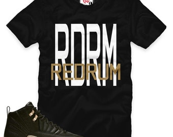 bc1942958 Black White Metallic Gold 12 RDRM Redrum T-Shirt