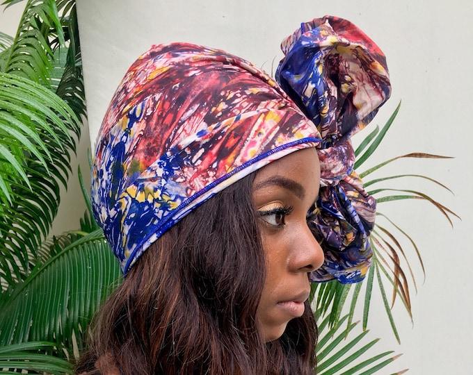Supernova // Adire Head Wrap // African Print