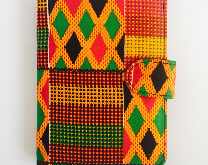 "8"" Kente Tablet Case // Notepad Holder & Cover"