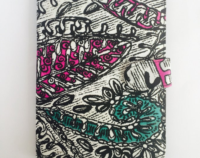 "10"" Ankara Doodle Tablet Case // Notepad Holder & Cover"