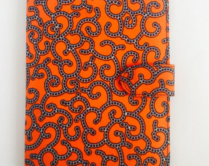 "10"" Ankara Spirals Tablet Case // Notepad Holder & Cover"