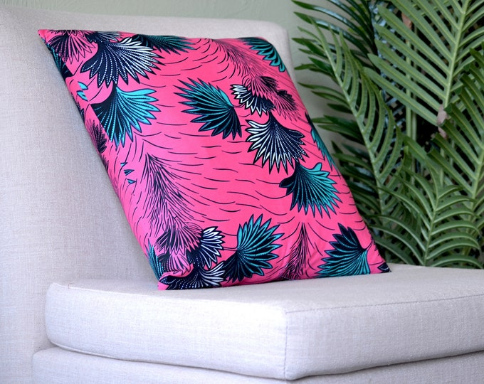 Palm // Ankara Throw Pillow Cover