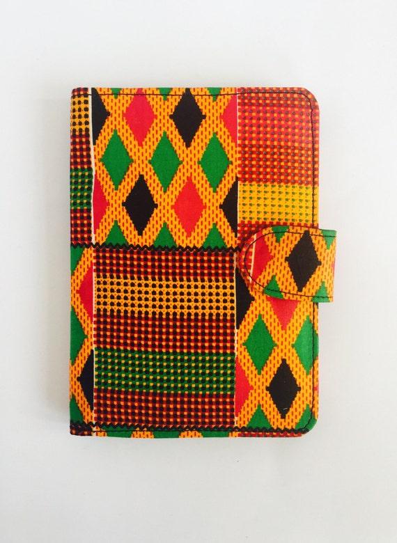 """8"""" Kente Tablet Case // Notepad Holder & Cover"""
