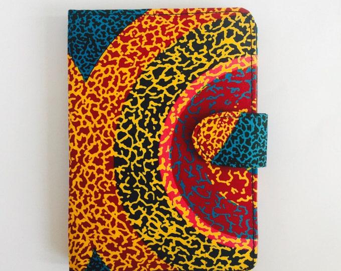 """8"""" Ankara Super Sun Tablet Case // Notepad Holder & Cover"""