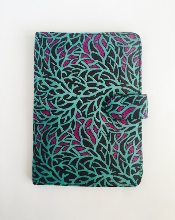 "10"" Ankara Branches Tablet Case // Notepad Holder & Cover"