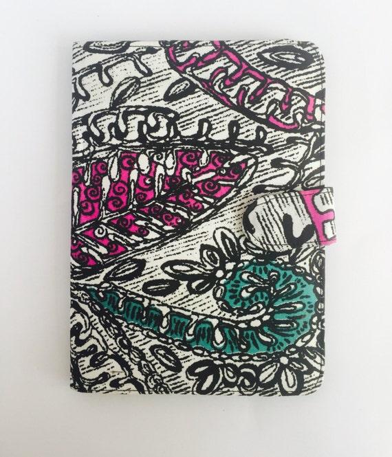 "10"" Ankara Doodle Tablet Case // Notepad Holder & Cover"