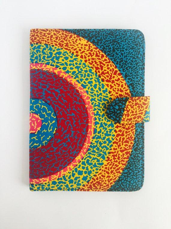 """10"""" Ankara Super Sun Tablet Case // Notepad Holder & Cover"""