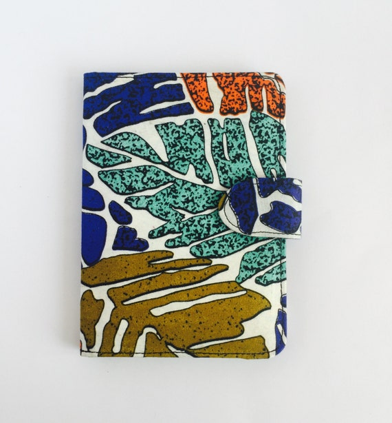 "8"" Ankara Leaves Tablet Case // Notepad Holder & Cover // African Print"