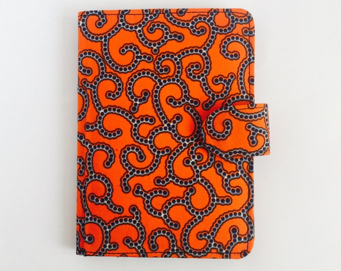 """8"""" Ankara Spirals Tablet Case // Notepad Holder & Cover"""