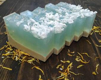 Ocean Soap, Ocean Soap Bar, Ocean Gift, Watermelon Soap, Artisan Soap, Lime Soap, Handmade Soap, Handcrafted Soap Bar, Fancy Soap