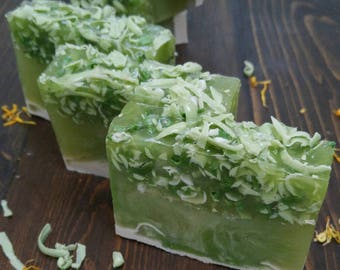 Green Apple Soap, Apple Soap, Green Soap, Apple Soap Bar, Green Soap Bar, Forest Soap, Artisan Soap, Handmade Soap, Fancy Soap, Pretty Soap