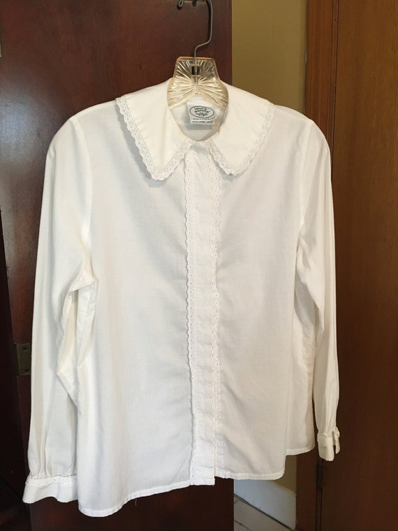Vintage, Early 1980s Laura Ashley 100% Cotton Blou