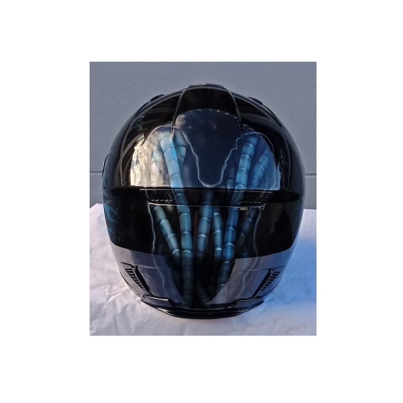 Full face Predator helmet,Custom helmet,Handmade helmet,Airbrushed helmet,Painted helmet,Motorcycle helmet,Casque helmet