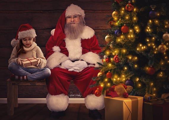 santa background sit with santa digital backdrop christmas etsy