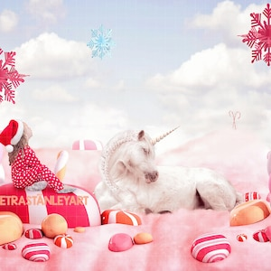 Fantasy Christmas Photo Card Funny Snowman Christmas Digital Backdrop Template Digital Background Candy Cane Lane Frosty the Snowman