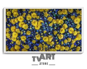 Frame tv art flower Painting Digital Instant Download 4k Spring Artwork Oil Painting for Samsung Frame TV Art Flowers  #RkSa2