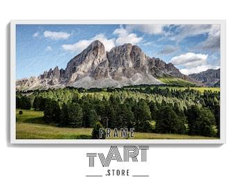 Samsung TV Frame Art Digital Download 4K Frame Tv Art Painting Mountains Landscape Digital Art #LlSr3