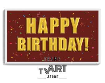 Samsung Frame TV Art Birthday, Happy Birthday Balloons, Samsung Art, Digital Download for Samsung Frame, Birthday, Instant Download #BiDz5bo