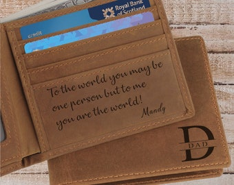 Personalised Citroen 2CV Wallet Classic Car Leather Mens Dad Gift CL04