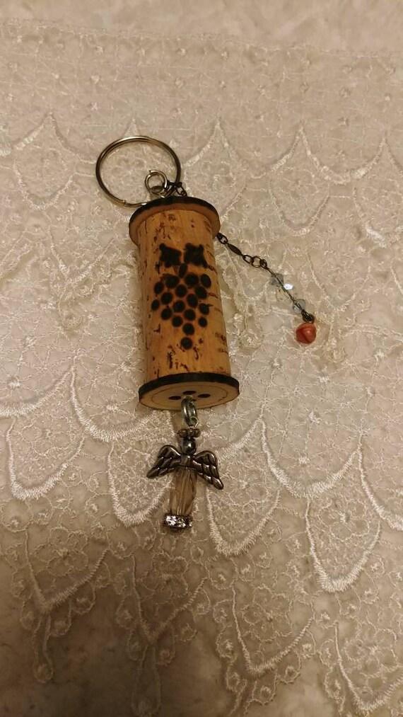 Keychain Wine Cork Keychain Keychains and lanyards Key  3a09632cc