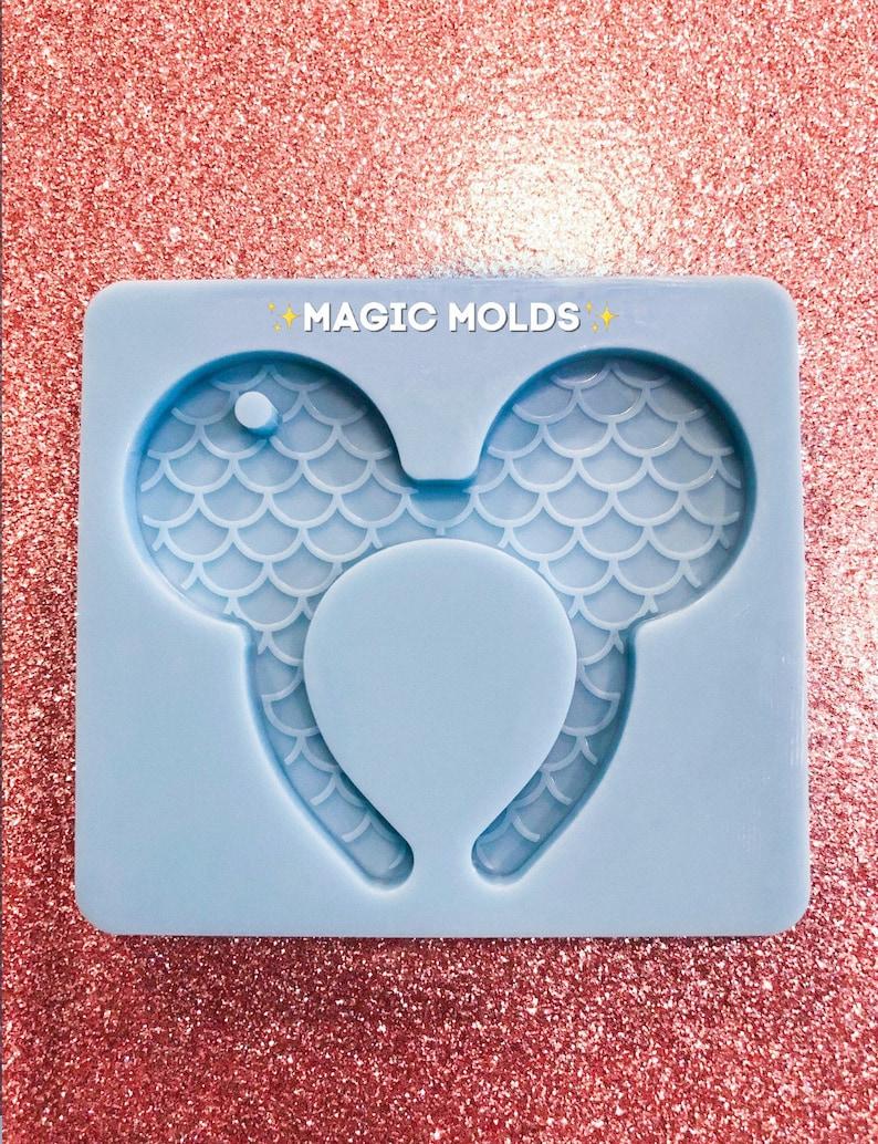 Mickey Ears inspired Mermaid Keychain Mold