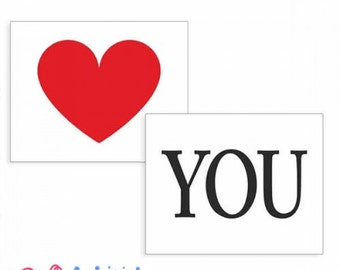 """Stickers or stickers for shoes """"I love you"""""""