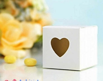 Box white with window of heart