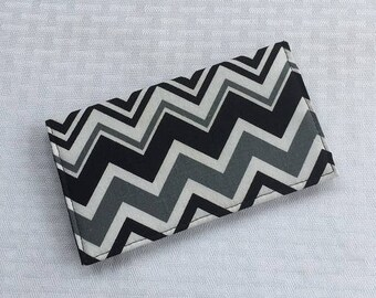 Checkbook cover, Fabric Checkbook, Duplicate Checkbook, Gift for Her, Checkbook Holder, Checkbook Register, Chevron, L Miller Creations