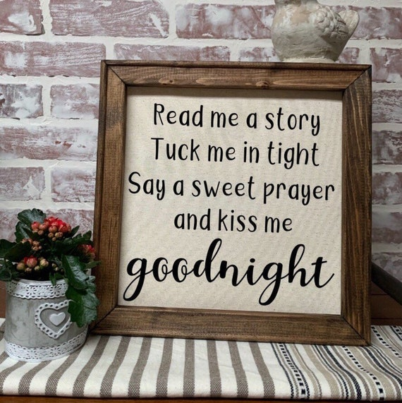 Read Me A Story Quote Wood Canvas Sign Let Them Be Little Etsy