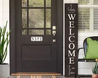 Welcome Sign, Welcome Sign Front Door, Farmhouse Welcome Sign, Front Porch Sign, Housewarming Gift, Porch Decor, Home Sign, Home Sweet Home