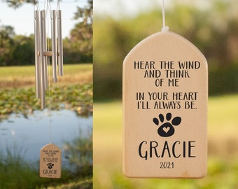 Always In Your Heart Wind Chime, Personalized Wind Chime, Remembrance Wind Chime, Pet Memorial Wind Chime, Bereavement Gift, In Memory