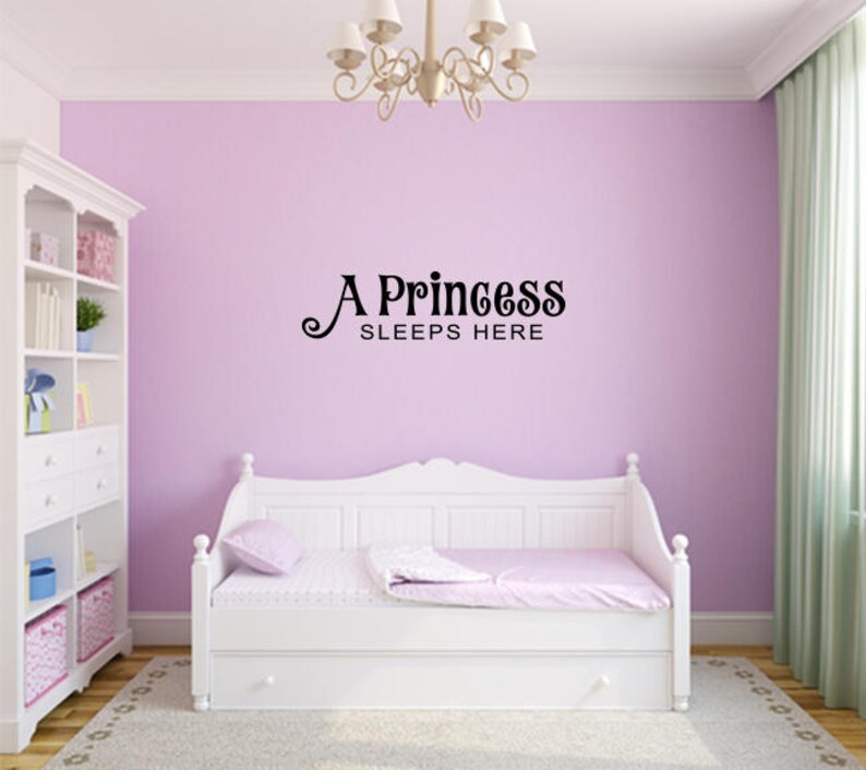 A princess sleeps here Decal Nursery, Children, Wall Decal - Great For  Home, Bedroom and Living Room Decor