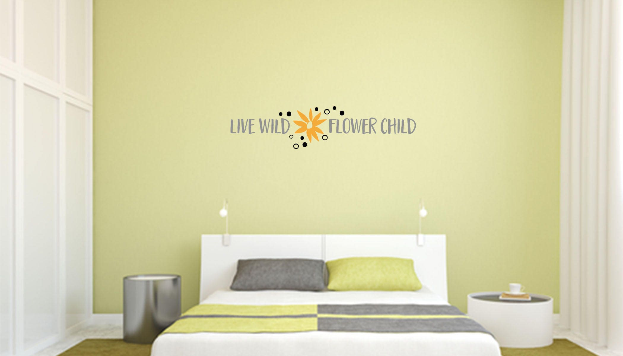 Live Wild Flower Child Multi-Colored Wall Decal Great For | Etsy