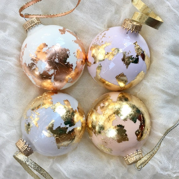 globe inspired gold leaf ornament gilded glass christmas etsy globe inspired gold leaf ornament gilded glass christmas ornament world earth travel gift neutrals